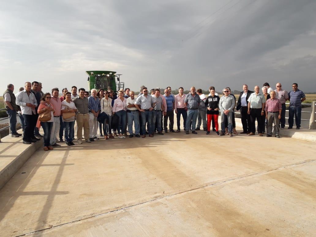 Quedó inaugurado el puente Saladillo de La Vuelta
