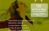 Campaña de prevención de cáncer de pulmón