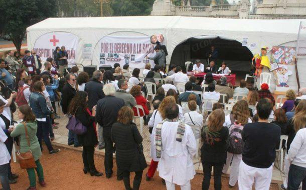 Médicos, estatales y judiciales instalarán una carpa en el Congreso