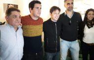 Kicillof estuvo en Rojas con los pre candidatos locales del Frente de Todos