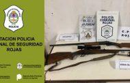 Allanamiento positivo con secuestro de armas de fuego y aprehensión
