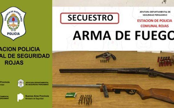 Allanamientos positivos con secuestro de armas de fuego