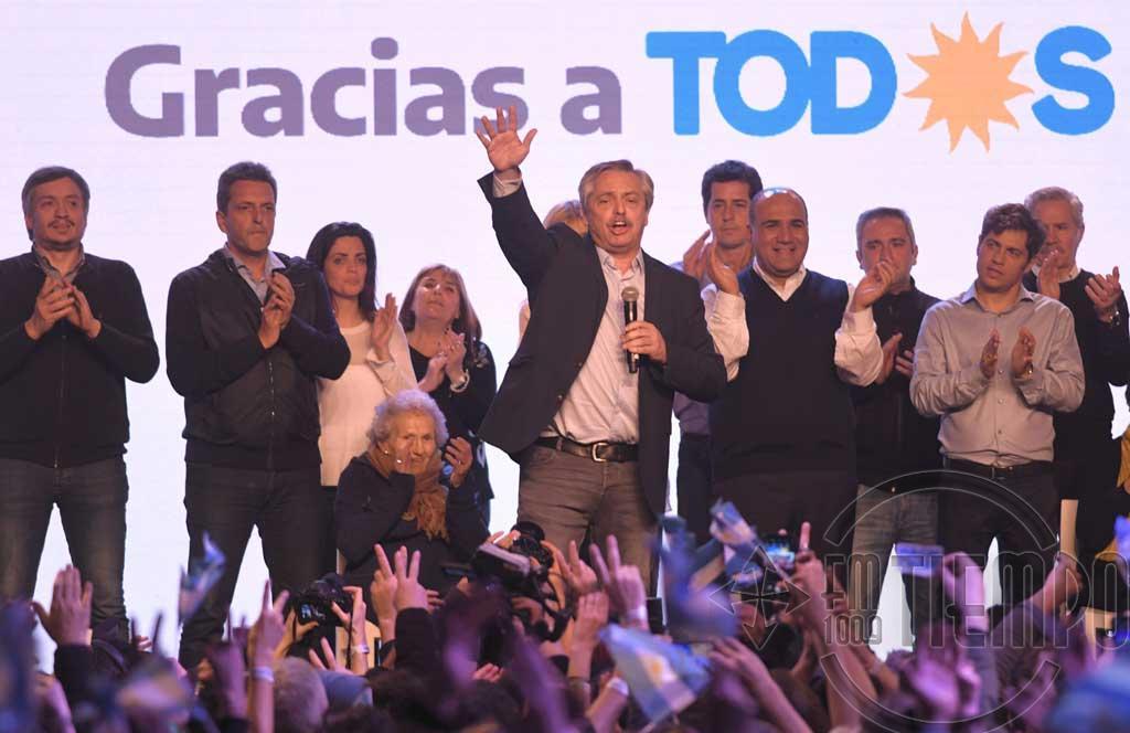 Fernández tras el contundente triunfo en las PASO: