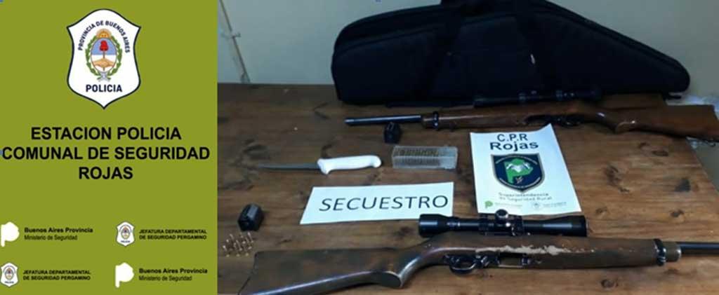 Dos personas aprehendidas por el delito de tenencia ilegal de arma de fuego