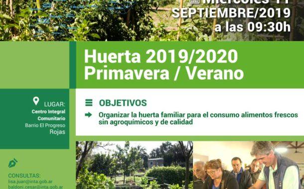 INTA Rojas lanza la campaña Primavera Verano para huertas