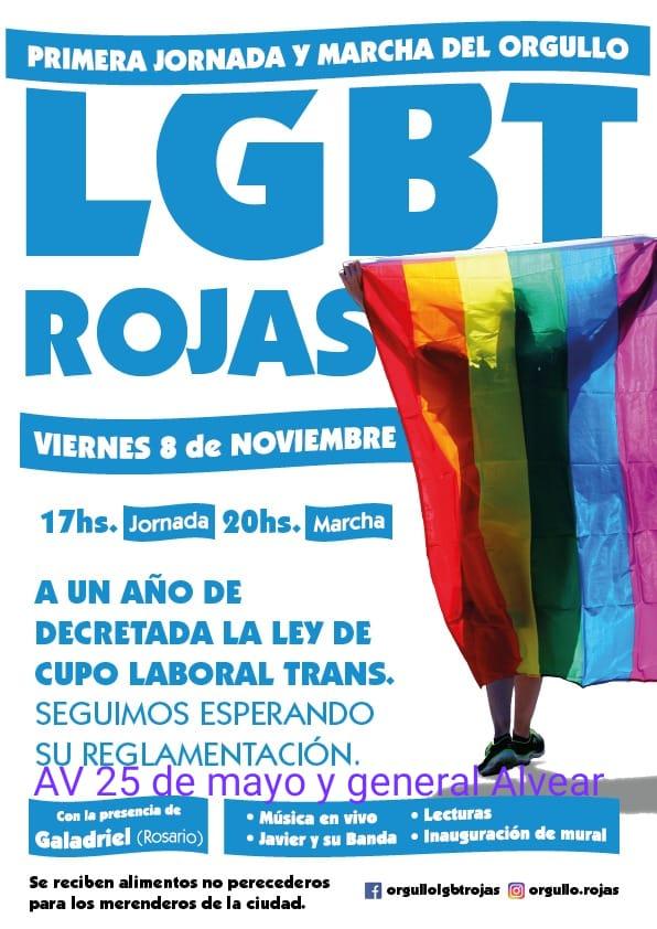 Primera jornada y marcha del orgullo LGBT de Rojas