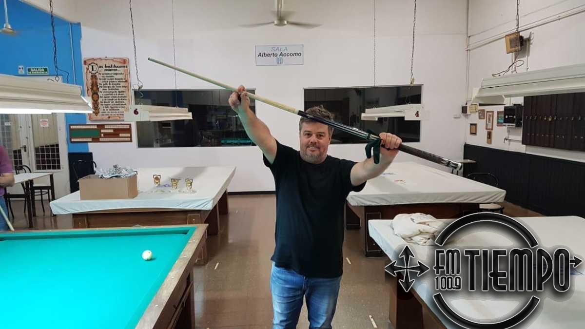 Billar: Gustavo Roques se consagró campeón de la temporada por octava vez