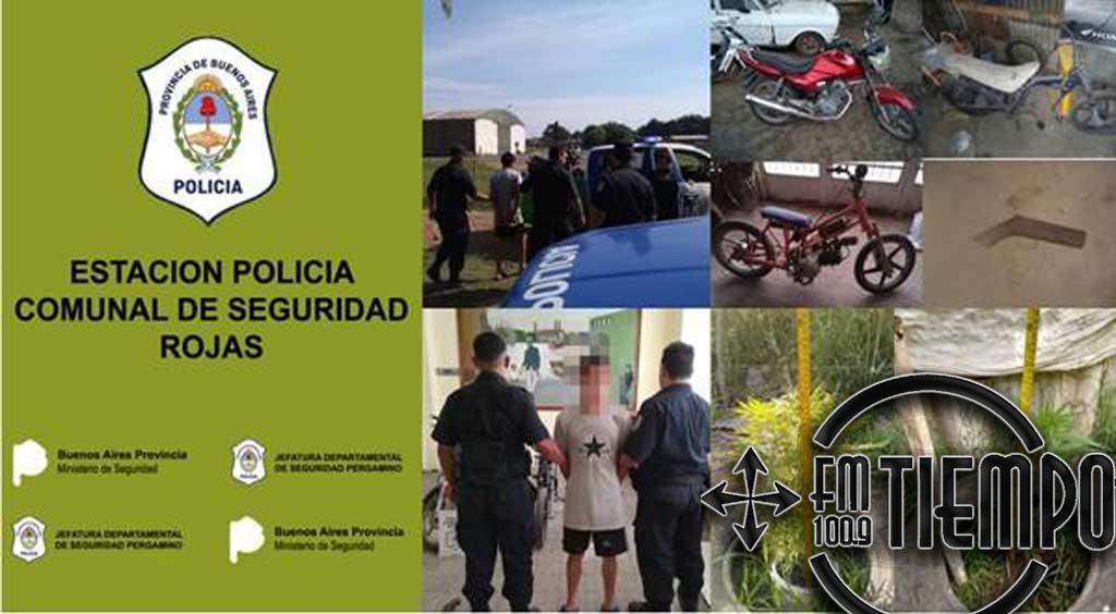 Allanamientos múltiples en marco de causa por lesiones agravadas por el uso de arma de fuego, secuestro de motos y plantas de marihuana