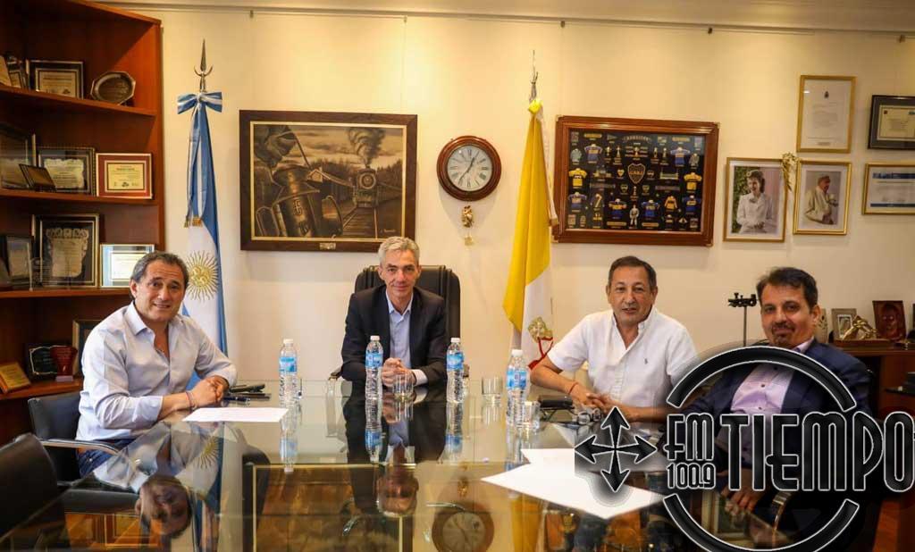 Mario Meoni se reunió con gremios ferroviarios