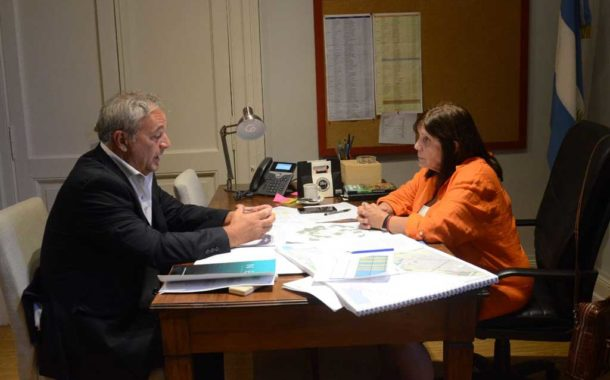 Rossi se reunió con la ministra Teresa García