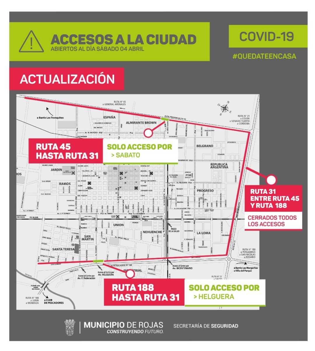 Nuevo mapa de accesos a la ciudad