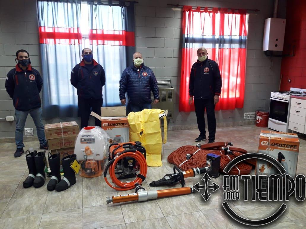 Los Bomberos Voluntarios adquirieron nuevas herramientas