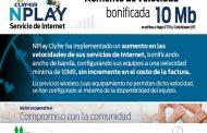 Clyfer informó que ha implementado un aumento en las velocidades en sus servicios de Internet