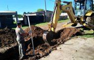 Comenzó la obra de cordón cuneta en 9 calles de Barrio Progreso