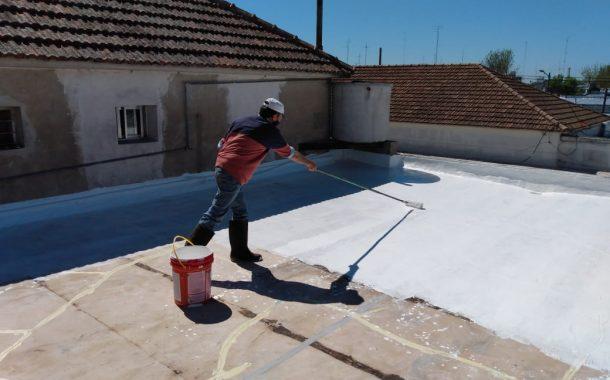 Impermeabilización de los techos de Terapia Intensiva en el Unzué
