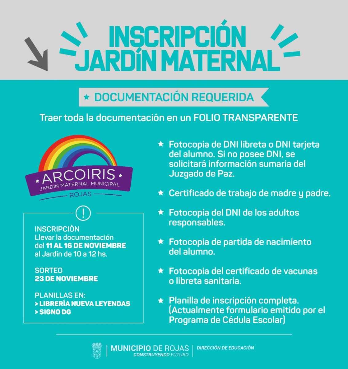 Abre la inscripción 2021 al Maternal Arco Iris