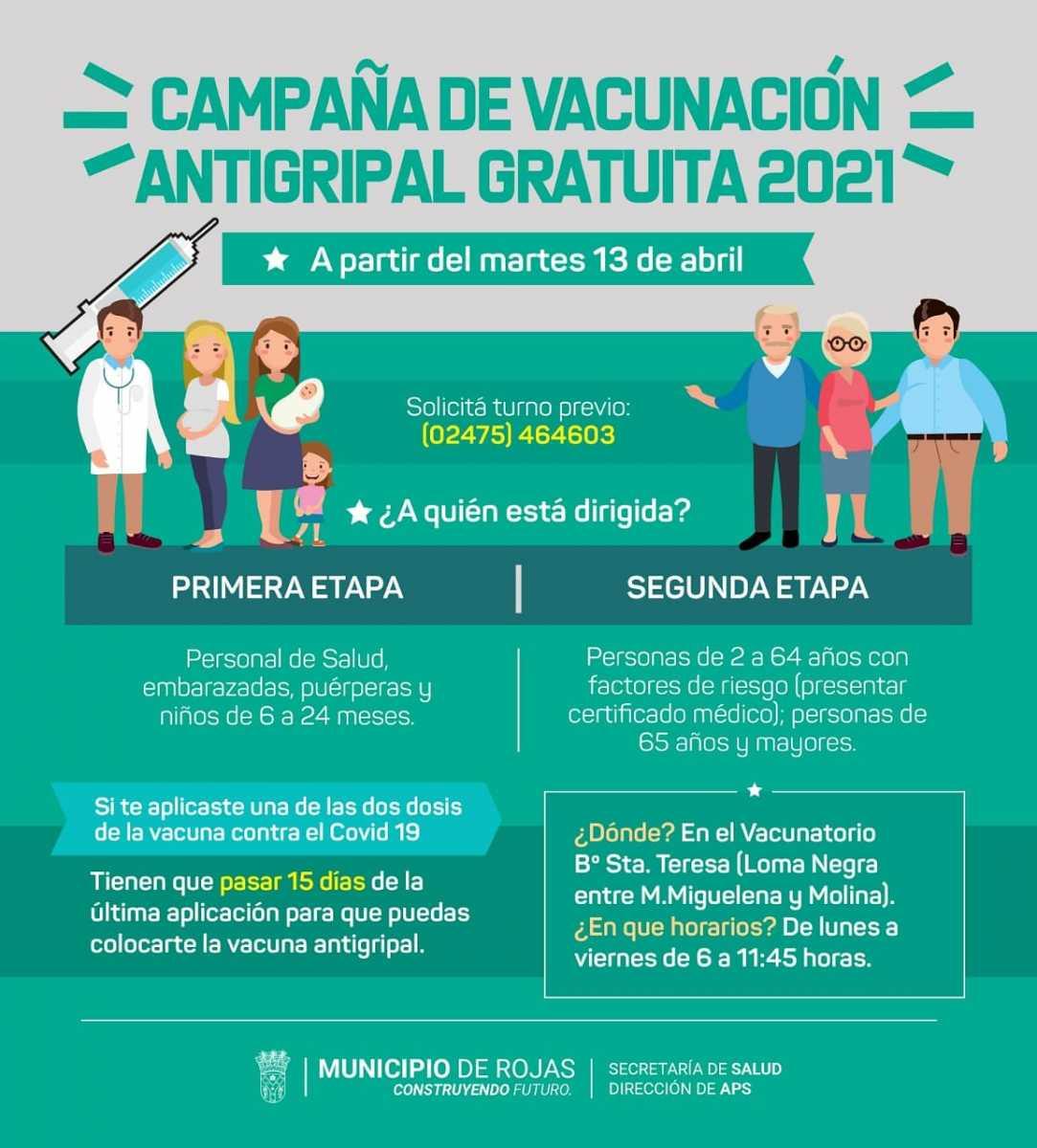 Comenzó la campaña de vacunación antigripal 2021