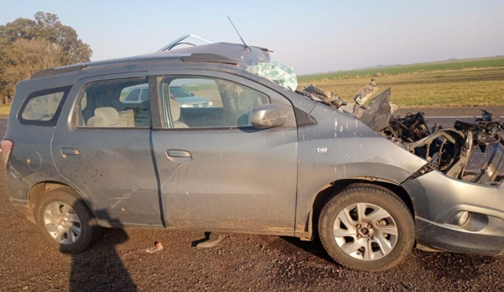 Tres personas sufrieron lesiones tras colisión en ruta 188