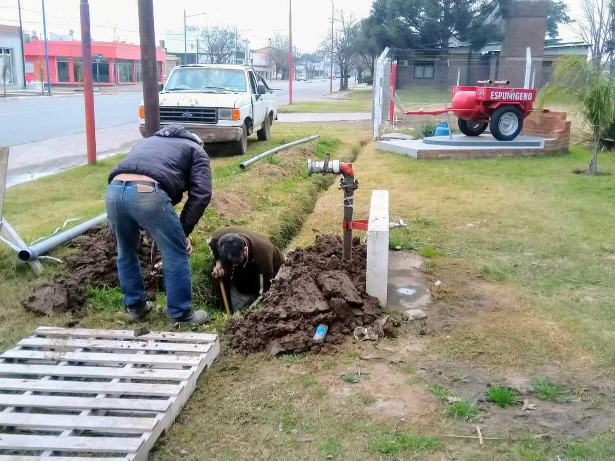 Cuartel de Bomberos Voluntarios: se finalizó una nueva conexión a la red de agua