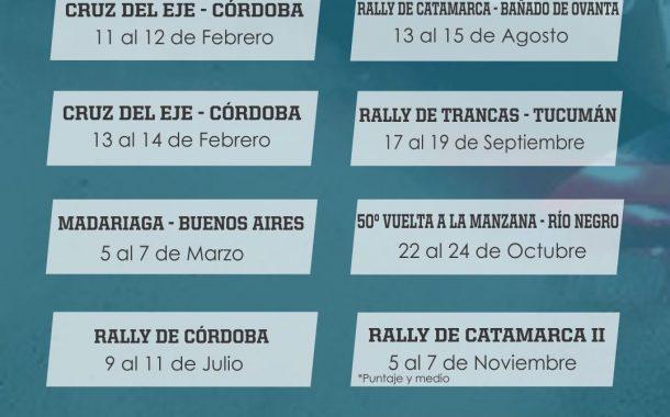 Calendario 2021 del Rally Argentino confirmado